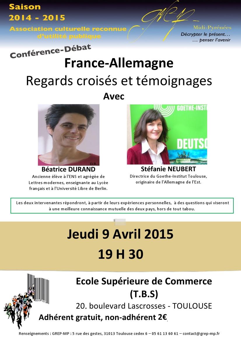 Conférence-Débat : Regards croisés France-Allemagne