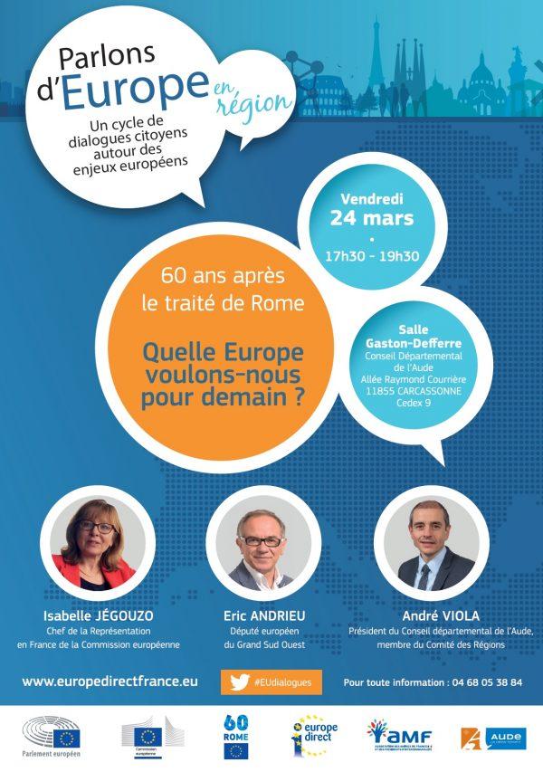 Dialogue citoyen autour des enjeux européens à Carcassonne