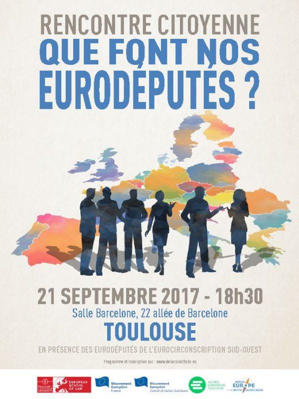 Rencontres citoyennes : QUE FONT NOS EURODÉPUTÉS ?