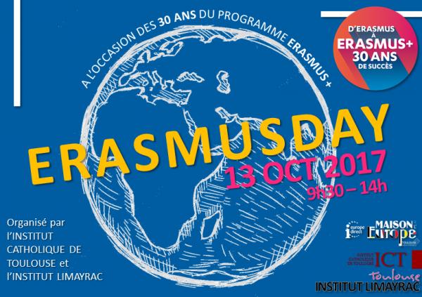 Erasmusday organisé par l'Institut Catholique de Toulouse et l'Institut Limayrac